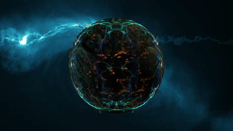 Nebula And planet In Deep Space Animation