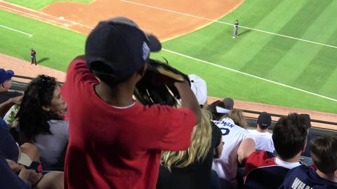 Young fans watching Baseball at Turner Field Atlanta - ATLANTA / GEORGIA - APRIL Live Action