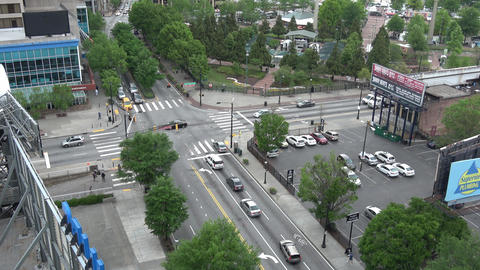 Street corner at Centennial Olympic Park Atlanta - ATLANTA / GEORGIA - APRIL 22, Live Action