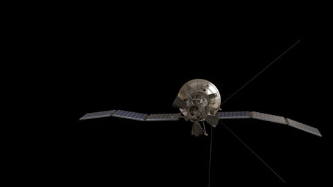Satellite with Transparency Animation