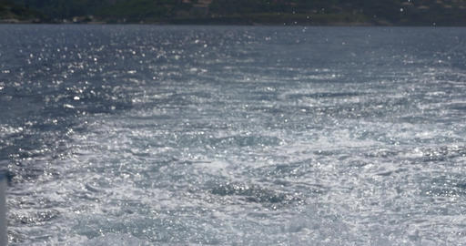 Whirling water by moving propellers cruise ship heading for the next port 41 Footage