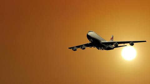 Passenger Plane Takes Off stock footage