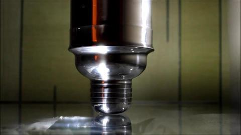 French Twist shiny shaker upside in the dark Footage