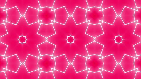 Red Psychedelic Kaleidoscope Footage