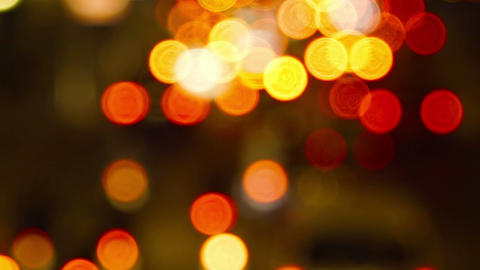 defocused abstract background with night city lights Footage