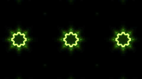 Green Neon Kaleidoscope Background Live Action