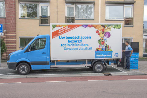 AH Company Delivery Truck At Amsterdam The Netherlands 2018 Photo