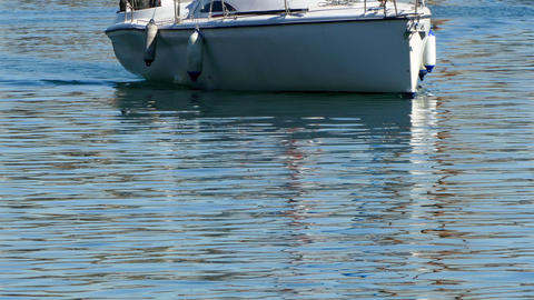 Recreation boat sailing Footage