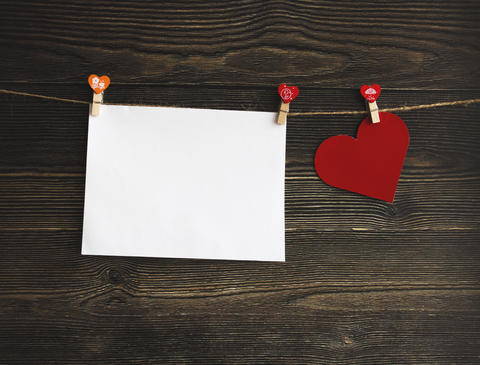 Red Heart Greeting Card Stock Photo フォト
