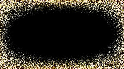 Gold Frame Particles Stock Video Footage