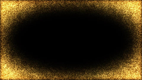 Gold Frame Particles Animation