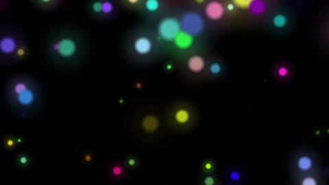 Fast Colorful Dark Dynamic Particles Rotating Abstract... Stock Video Footage