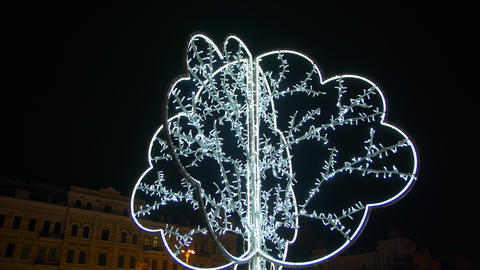 Christmas Illumination Tree Footage