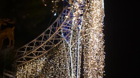 Christmas Outdoor Garlands Footage