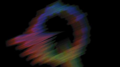 Flickering Rgb Music Video Colored Audio Spectrum Animation
