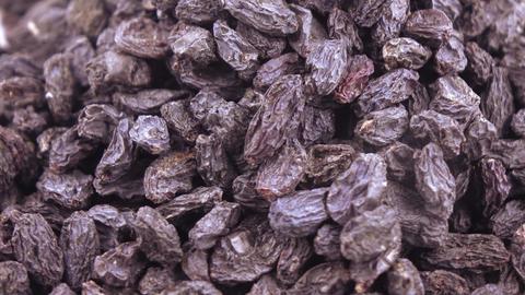 Pile of blue raisins Footage