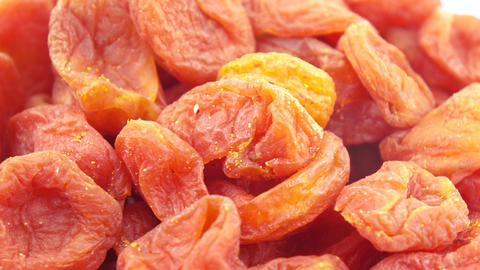Pile of dried apricots Live Action