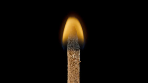 Incense stick with smoke on black background 영상물