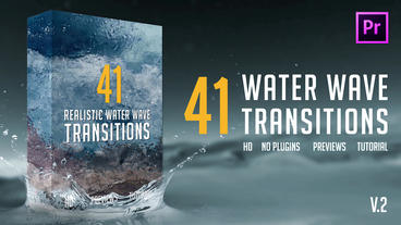 Realistic Water Wave Transitions Pack Premiere Proテンプレート