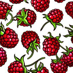 raspberry berries vector pattern Vector