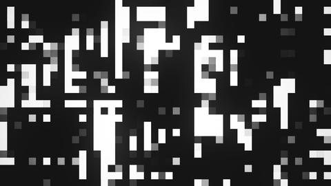 Pixels Flowing Seamless Loop Black White Abstract Background Animation