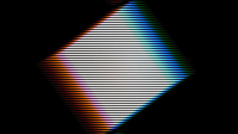 Colored Grid Plate Square Rotation Loop Background Animation
