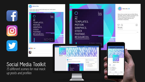 Social Media ToolKit After Effects Template