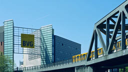 Administration Building of BVG With BVG Logo And Train 영상물