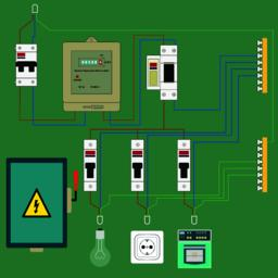 Electrical circuits Vector