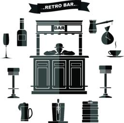 Retro bar Vector