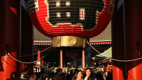Kaminarimon gate at Senso-ji temple in Asakusa GIF