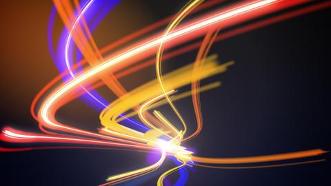 Abstract night traffic loop Stock Video Footage