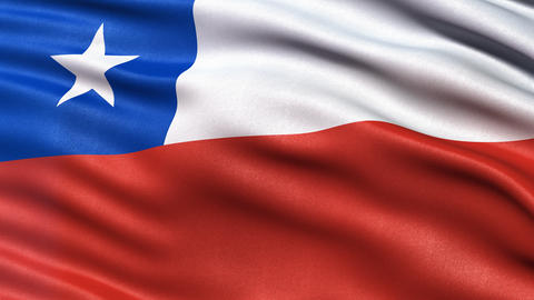 Seamless loop of Chile Flag Animation