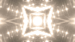 VJ Fractal gold kaleidoscopic background Animation