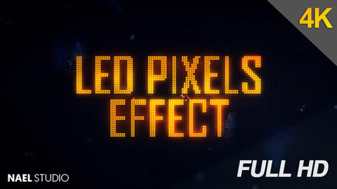 LED Pixels Light Effect After Effects Template
