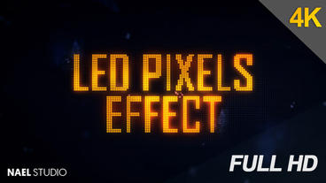 LED Pixels Light Effect After Effects Project