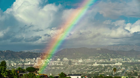 West Hollywood Rainbow Time-lapse Footage