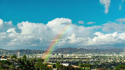 LA Rainbows Time-lapse Footage