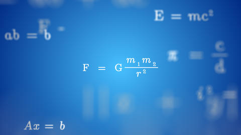 Animated GRAVITY FORMULA Background Animation