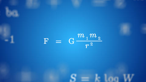 Animated GRAVITY FORMULA Background, Stock Animation