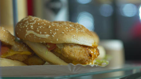 Cheap Fast Food Burger Footage