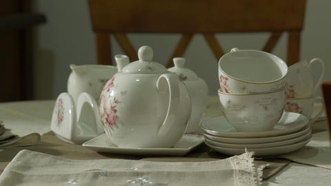 Porcelain Antique Tea Set Live Action