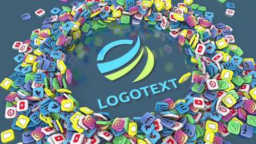 Social Media Logo 애프터 이펙트 템플릿