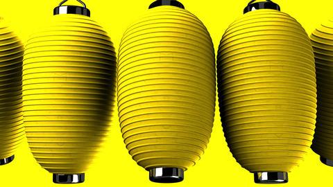 Yelow paper lantern on yellow background CG動画
