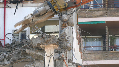 Demolition machinery working Live Action