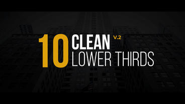 Clean Lower Thirds v 2 After Effectsテンプレート