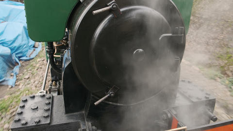 Steam Locomotive in Motion, London, England, UK Footage