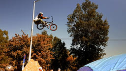 Bike acrobatics teen boy Footage