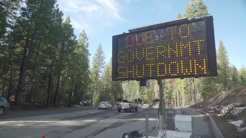Gov't Shutdown Sign, Pan Footage