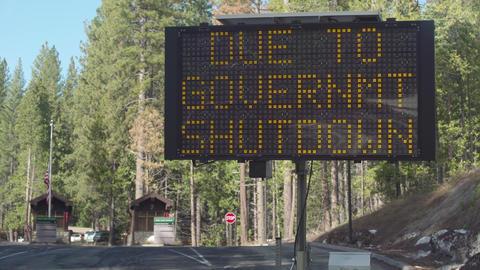 Gov't Shutdown Sign, Long Shot Footage